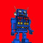 Blu Bot Red by LawrenceA