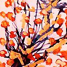Cherry Blossoms, watercolor by Anna  Lewis