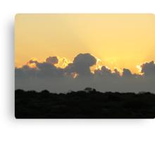 Sunset via Denham Western Australia Canvas Print
