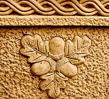 Stone Acorn Leaf Design by Andy Merrett