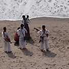 Cora Musicians at the Beach - Cora Musicos en la Playa by PtoVallartaMex