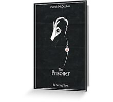 The Prisoner: Be Seeing You Greeting Card