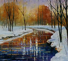 THE ENERGY OF WINTER - LEONID AFREMOV by Leonid  Afremov