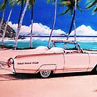 1962 Ford Thunderbird Convertible Roadster by brianrolandart