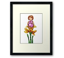 Pregnantly Waiting Framed Print
