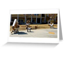 The Marching Band By Jonathan Green Greeting Card