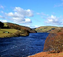 Ladybower Reservoir Derbyshire by John Dunbar