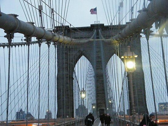 Brooklyn Bridge at Dusk, New York by lenspiro