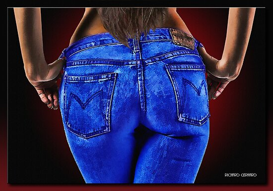 A Girl in Jeans by Richard  Gerhard