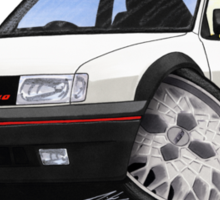 VW Polo (Mk3) G40 White Sticker