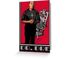 HIP-HOP ICONS: DR. DRE - ESCAPE FROM DEATH ROW Greeting Card