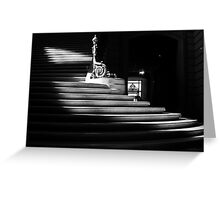 The light on the stairs of power – San Francisco City Hall Greeting Card