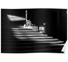 The light on the stairs of power – San Francisco City Hall Poster