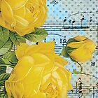 Music Roses 1 by CalicoCollage