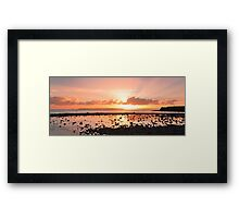Summer's Last Sunrise - Cleveland Qld Australia Framed Print