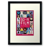 The Sci-fi Film Alphabet Framed Print