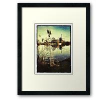 Windmill & Reeds Framed Print