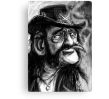 Lemmy caricature Canvas Print