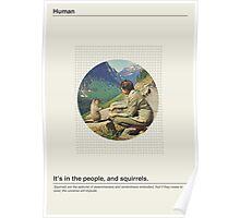 Human / Squirrel. Poster