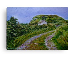 """""""Ruined Cottage near Kinny Lough, Magheradrumman, Fanad, Donegal."""" Canvas Print"""