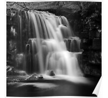 East Gill Force (Black & White) Poster