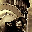Antique locomotive by Celeste Mookherjee