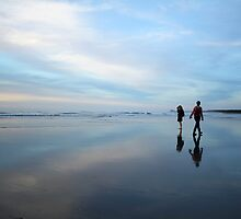 hunts beach reflection by rina  thompson