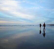hunts beach reflection by rina  thompson