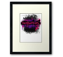 Moriarty was real (orchid) Framed Print