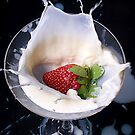 Strawberry Splash by Andre Faubert