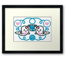 The Narwhal- Nature's Knitter! Framed Print