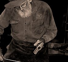 Black smith at work by Rodney Wratten