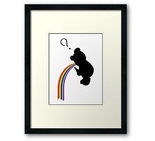 TEDDY RAINBOW VOMIT Framed Print