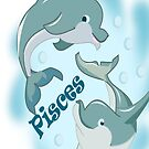 Pisces I Phone case rubber Dolphin (1121  Views) by aldona