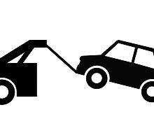 vehicle towing sign as clipart by naturaldigital