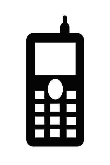 naturaldigital portfolio mobile telephone sign as clipart
