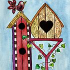 Bird House ~ Sweet Spring Memories. by Lisa Frances Judd ~ Original Australian Art