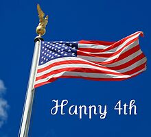 American Flag Happy 4th of July by dorcas13