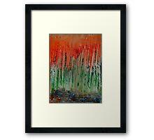Trees Aflame Framed Print