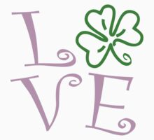 Shamrock Love - Pink and Green by avdesigns