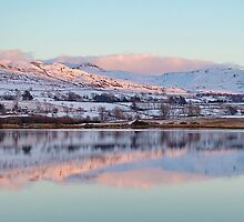 Trawsfynydd Lake Reflection, North Wales UK by AnnDixon