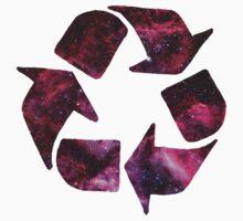 Galaxy recycling logo by sky-1ine