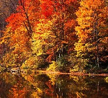 Fall colors and reflection - 234 by ©  Paul W. Faust