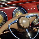 1941 Lincoln Continental Cabriolet V12 Steering Wheel by Jill Reger