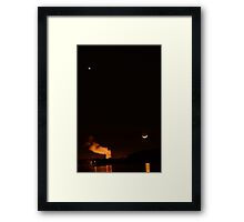 Moonset at Arkansas Nuclear One Framed Print