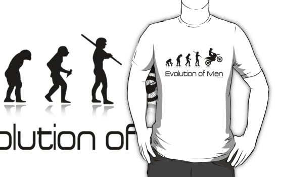 Evolution of Men- Off Road Motorcycle  by Janja