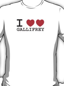 I Heart Heart Gallifrey T-Shirt