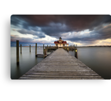 Roanoke Marshes Lighthouse - Manteo Lighthouse Outer Banks NC Canvas Print