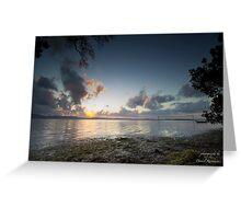 Wallis Lake by Sunset Greeting Card