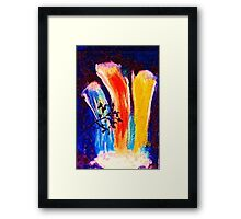 Rainbow, waterfalls, watercolor Framed Print